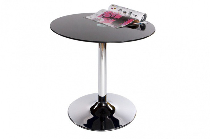 Table basse verre ronde noir tables d 39 appoint pas cher for Table basse noir ronde