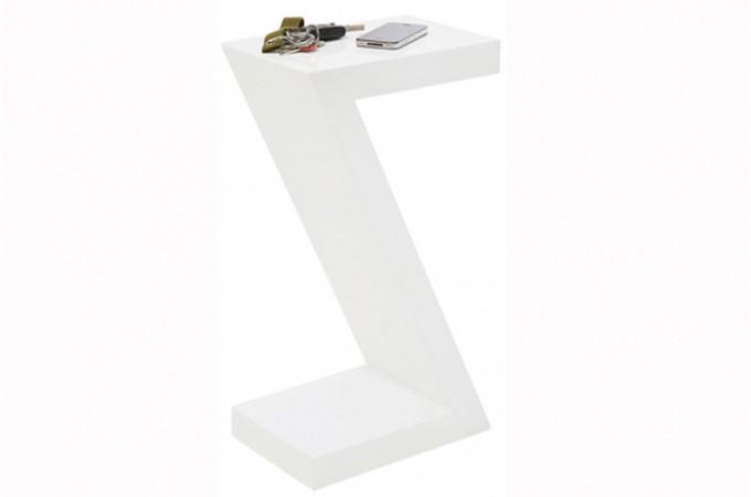 table d 39 appoint blanche laqu z tables d 39 appoint pas cher. Black Bedroom Furniture Sets. Home Design Ideas