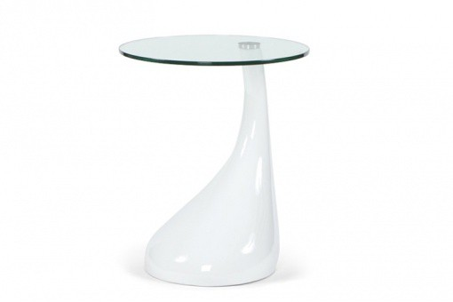Table d'Appoint Design Snoopy Blanc