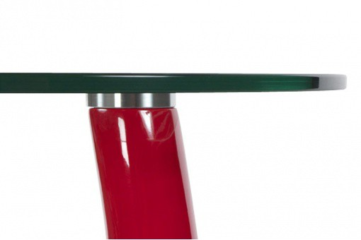Table d'appoint design Snoopy rouge