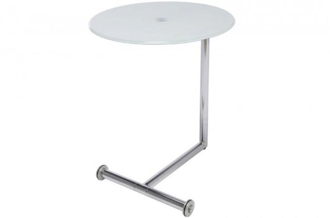 table d 39 appoint plateau verre blanc opaque tables d 39 appoint pas cher. Black Bedroom Furniture Sets. Home Design Ideas