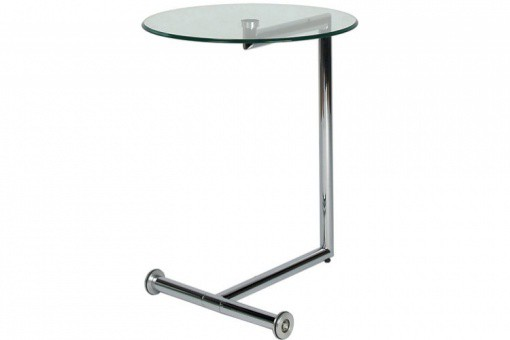 Table d'Appoint Plateau Verre Transparent