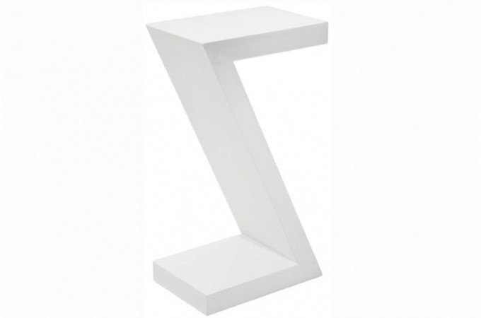 Table d appoint blanc for Chez brick meuble