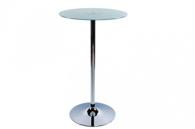 table de bar ena plateau verre opaque tables de bars pas cher. Black Bedroom Furniture Sets. Home Design Ideas