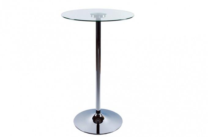 table de bar ena plateau verre transparent tables de bars pas cher. Black Bedroom Furniture Sets. Home Design Ideas