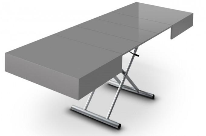 Table basse relevable rallonge gris laqu extencia - Table modulable pas cher ...