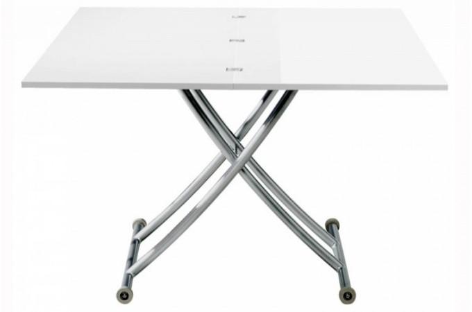 Table Basse Relevable A Rallonge Laque Blanc Ella Declikdeco