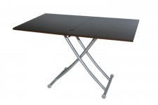 Table basse relevable extensible wenge Ella - Table relevable design