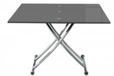 Table Basse Relevable à Rallonge Laqué Gris Ella, deco design