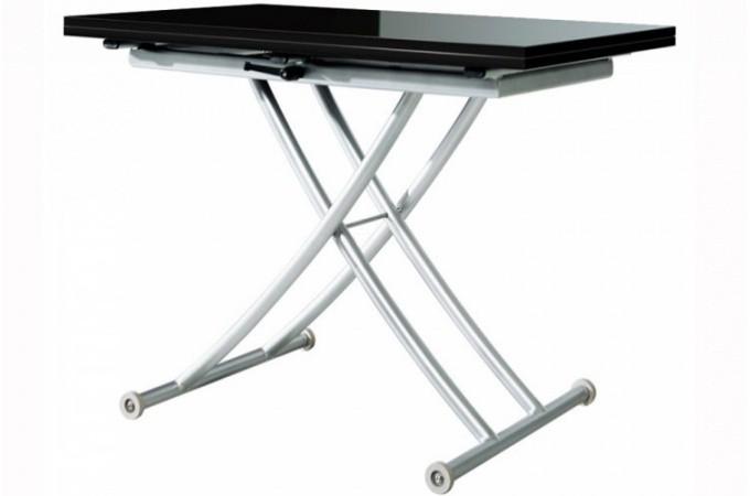 Table Basse Relevable Rallonge Noir Laqu Ella Tables