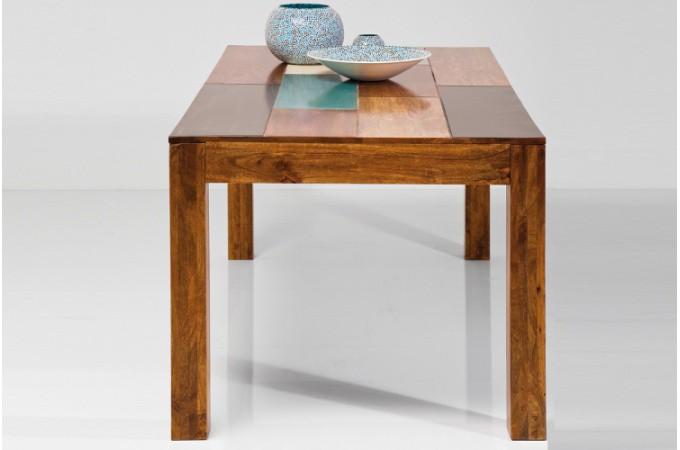 Table de repas multicolore en bois beverly 180x90 cm tables manger pas cher - Deco table multicolore ...