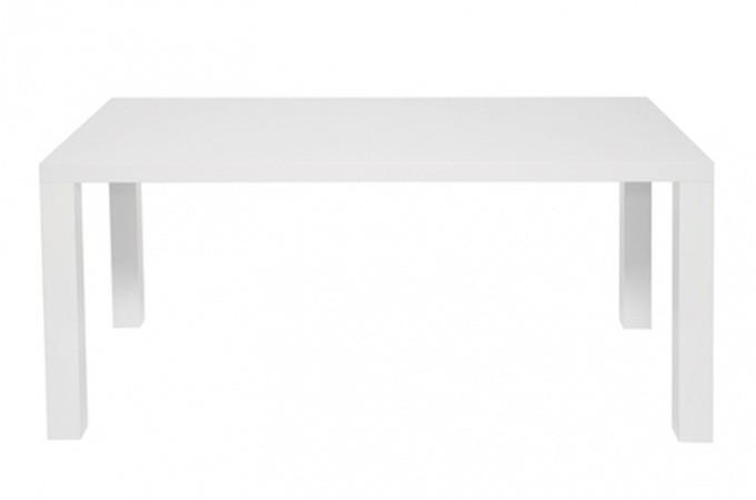 table a manger blanche laqu. Black Bedroom Furniture Sets. Home Design Ideas