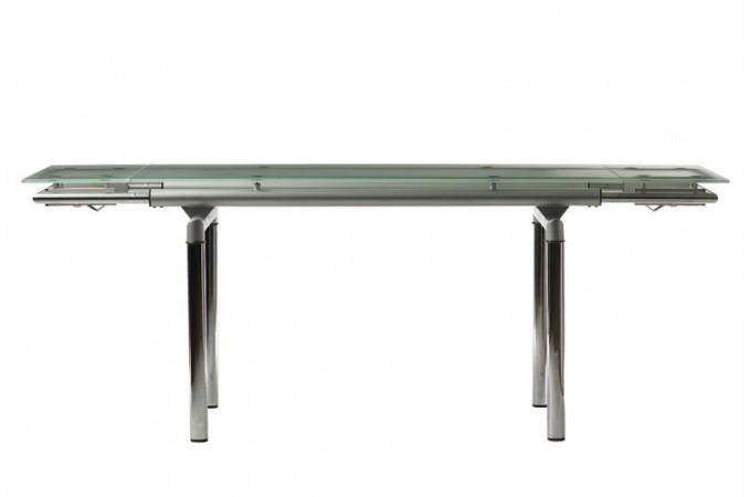 table extensible en verre et acier lola tables manger pas cher. Black Bedroom Furniture Sets. Home Design Ideas