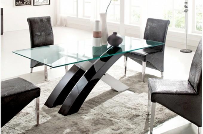 les concepteurs artistiques table a manger en verre pas cher. Black Bedroom Furniture Sets. Home Design Ideas