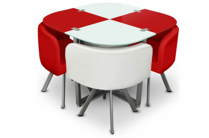 Ensemble table 4 chaises damier achat table pas ch re for Table de cuisine chaises
