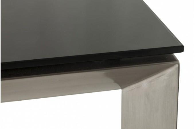table de repas extensible noir louisiane tables manger. Black Bedroom Furniture Sets. Home Design Ideas