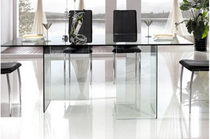 table de repas en verre jafar tables manger pas cher. Black Bedroom Furniture Sets. Home Design Ideas
