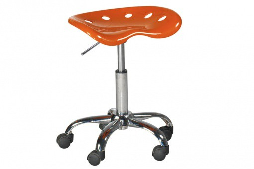 tabouret a roulette orange popi tabouret roulette pas cher. Black Bedroom Furniture Sets. Home Design Ideas