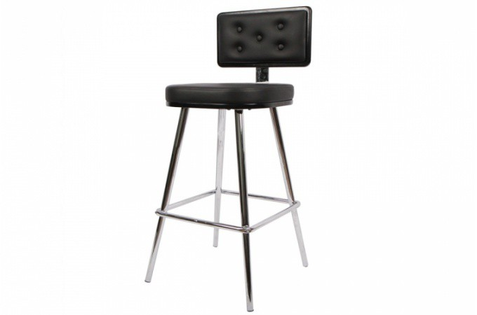 tabouret de bar capitonn simili cuir hugo tabourets de. Black Bedroom Furniture Sets. Home Design Ideas