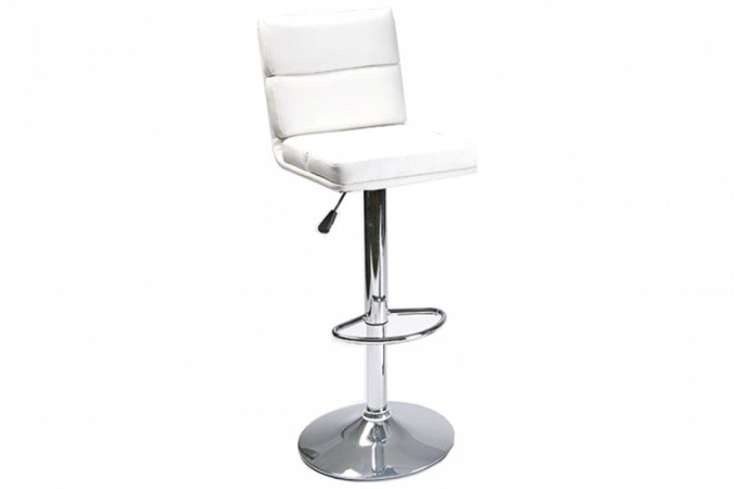 Tabouret de bar design en simili cuir blanc chaise de bar - Tabouret bar cuir blanc ...