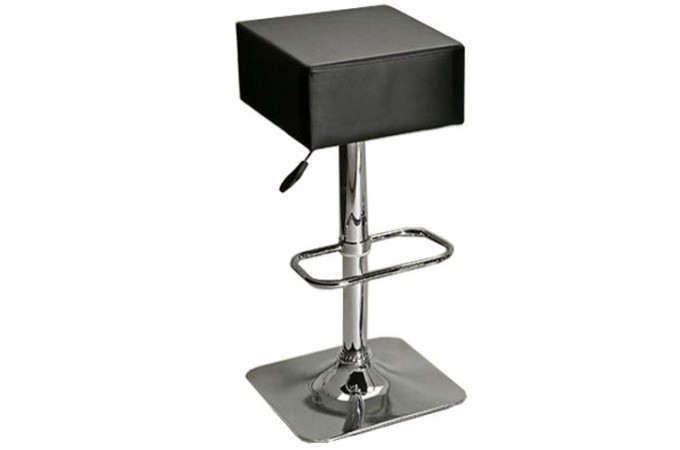 Tabouret de bar en simili cuir noir aldo declikdeco - Tabouret de bar en cuir ...