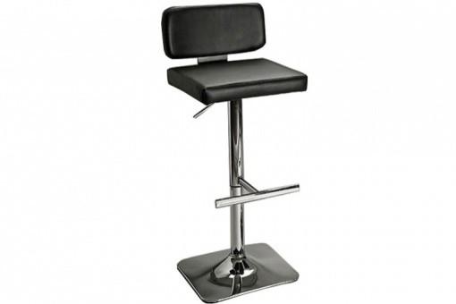 tabouret de bar en simili cuir noir vegas tabourets de bar pas cher. Black Bedroom Furniture Sets. Home Design Ideas