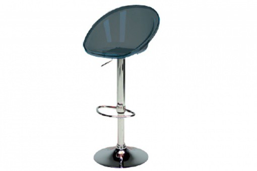 Tabouret De Bar Design Transparent Fumé ROXY - Tabouret de bar design
