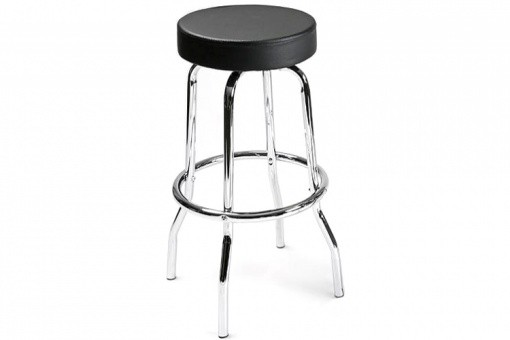 tabouret de bar noir au pied chrom tamara tabourets de bar pas cher. Black Bedroom Furniture Sets. Home Design Ideas