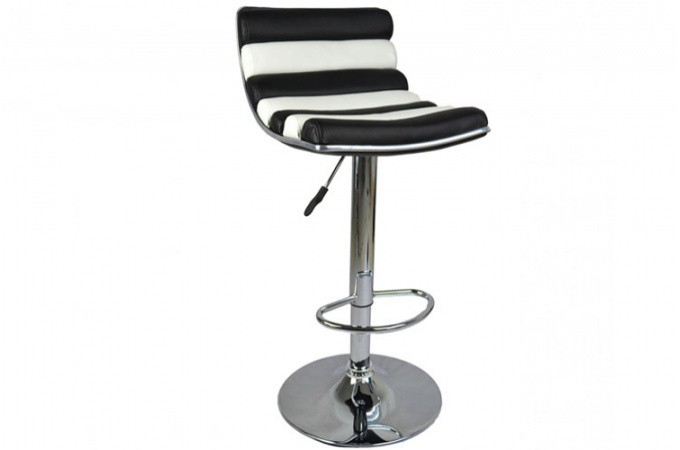 tabouret de bar noir et blanc millenium tabourets de bar pas cher. Black Bedroom Furniture Sets. Home Design Ideas