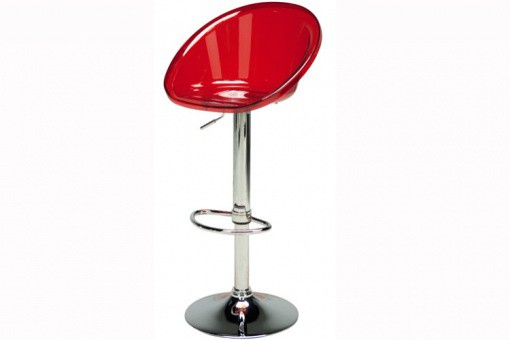 Tabouret De Bar Design Transparent Rouge ROXY - Tabouret de bar design