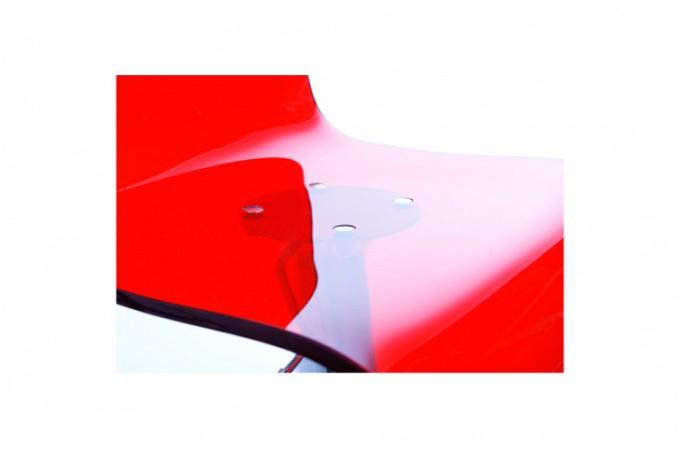 Tabouret de bar avec dossier en acrylique rouge tabouret de bar plexi rouge - Tabourets de bar rouge ...