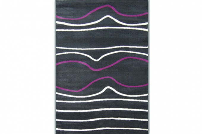 Tapis D Co Blanc Gris Violet Wave 80x140 Cm Tapis Design Pas Cher