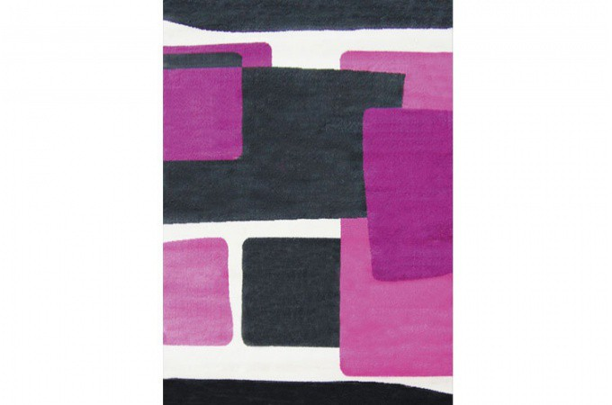 tapis design abstrait ii prune et rose 80x140 cm cadeaux. Black Bedroom Furniture Sets. Home Design Ideas