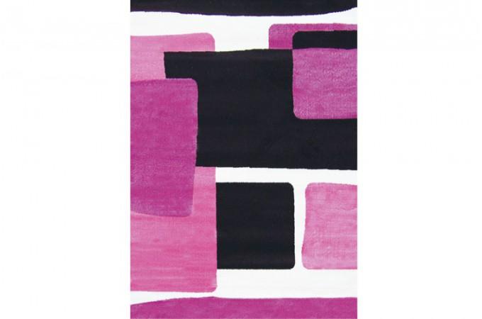 tapis design abstrait prune et rose 160x230 cm deco design. Black Bedroom Furniture Sets. Home Design Ideas