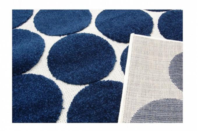 tapis design bubble bleu 160x230 cm tapis design pas cher. Black Bedroom Furniture Sets. Home Design Ideas