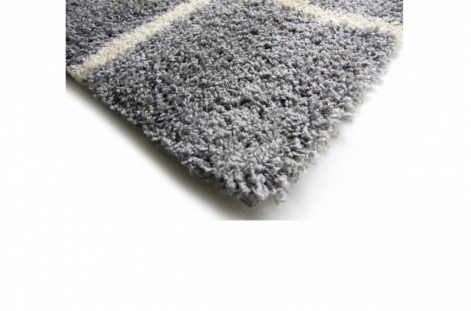 Tapis poils shaggy mosaique gris 160x230 cm tapis design pas cher - Tapis shaggy pas cher 160x230 ...