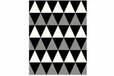 Tapis design Losanges Noir, Gris et Blanc 160X230 cm, deco design