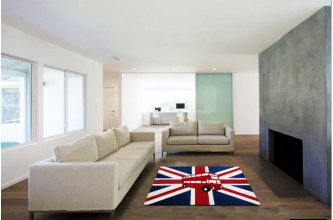 Tapis deco london bus 80x140 cm tapis design pas cher for London hotel pas cher