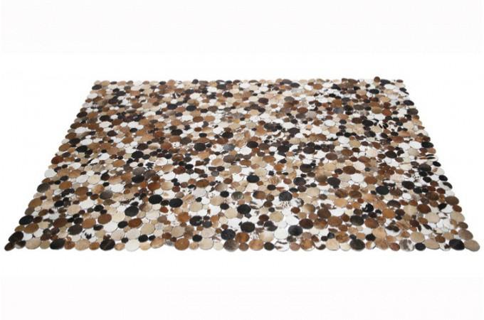 tapis en cuir rectangulaire choco 170x240 cm tapis design pas cher. Black Bedroom Furniture Sets. Home Design Ideas