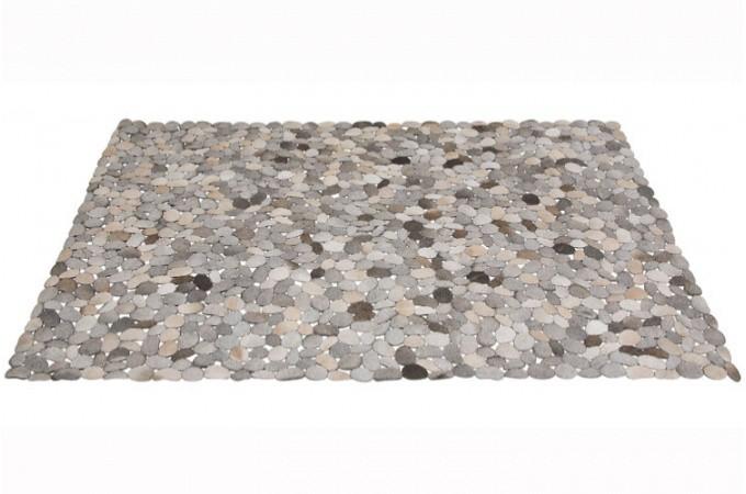 tapis en cuir rectangulaire gris 170x240 cm tapis design pas cher. Black Bedroom Furniture Sets. Home Design Ideas