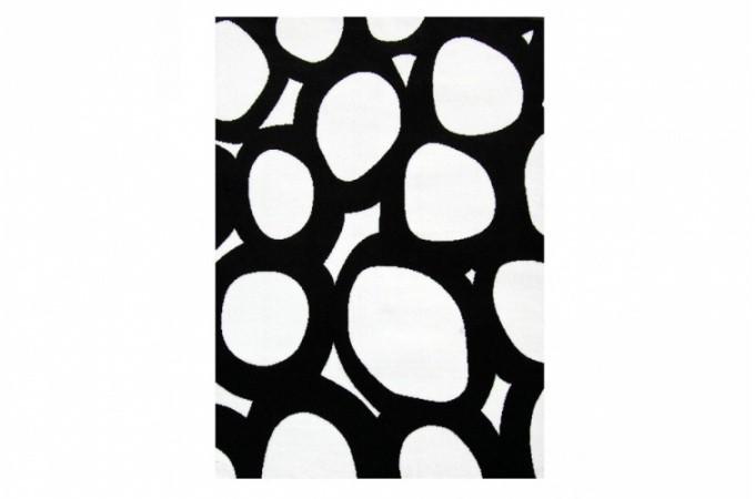 Tapis galet noir et blanc 120x160 cm tapis design pas cher - Tapis noir et blanc pas cher ...