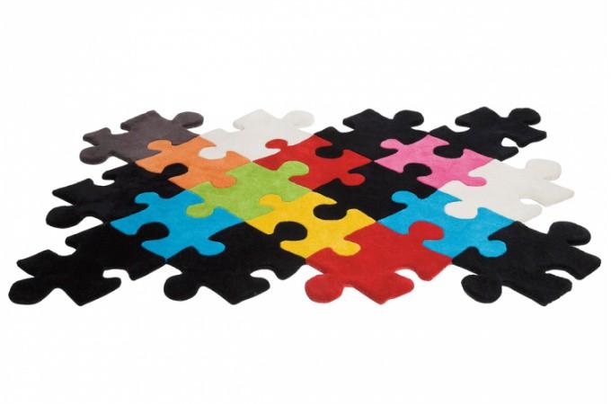 Tapis puzzle pas cher - Tapis multicolore pas cher ...