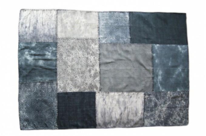 tapis patchwork bleu 120x180 cm deco design. Black Bedroom Furniture Sets. Home Design Ideas