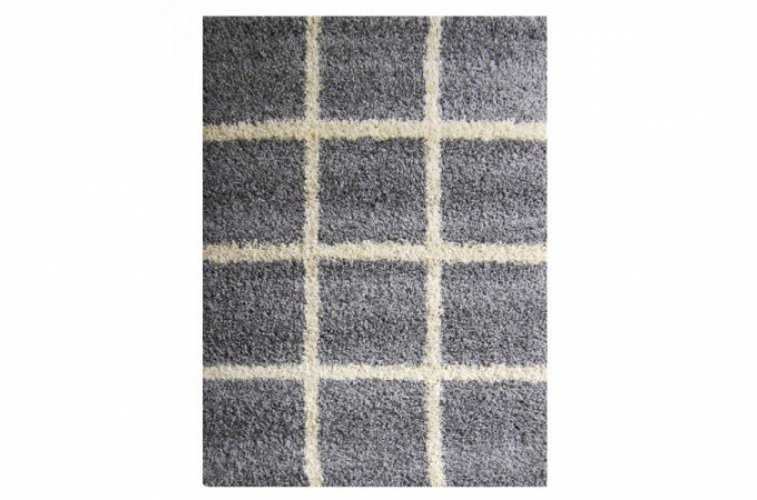 tapis poils shaggy mosaique gris 160x230 cm tapis design. Black Bedroom Furniture Sets. Home Design Ideas