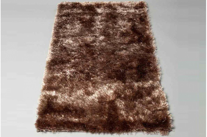 tapis poils tendance shaggy taupe 160x230 cm tapis design pas cher. Black Bedroom Furniture Sets. Home Design Ideas