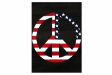 Tapis Pop Peace And Love Usa 120X160 cm - Tapis design