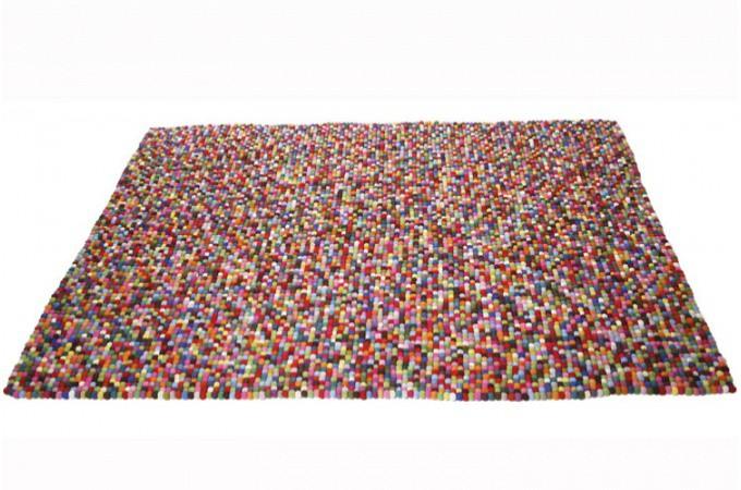 Tapis rectangulaire kare design en laine multicolore glups 170x240 cm tapis - Tapis laine multicolore ...