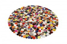 Tapis Rond en Cuir Multicolore 150X150 - Decoration interieur design