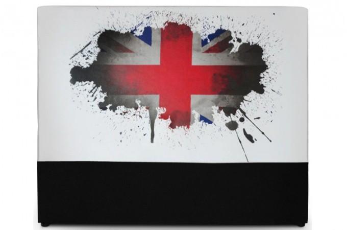 Declikdeco  Tête de lit 140 cm London Union jack