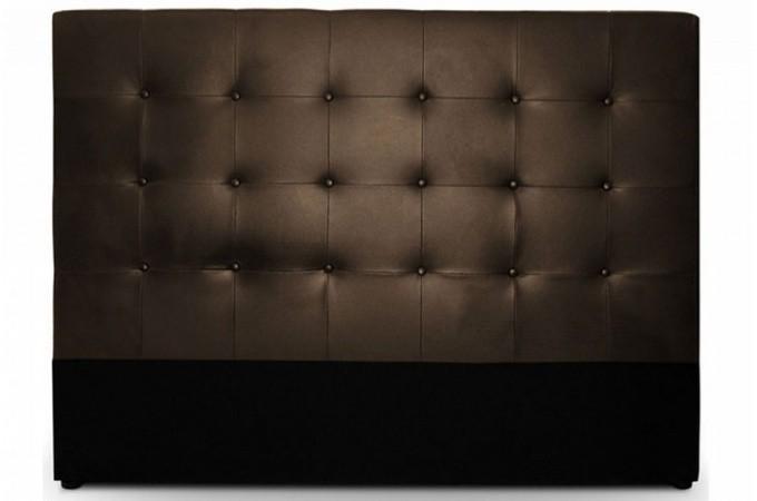 Tête de lit capitonnée 140 cm Cocoon choco  Têtes de lit